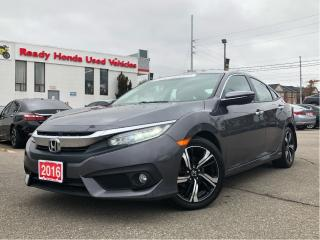 Used 2016 Honda Civic Sedan Touring - Navigation - Leather - Sunroof for sale in Mississauga, ON