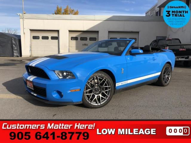 2011 Ford Mustang Shelby GT500  CONVERTIBLE LEATH 6-SPEED
