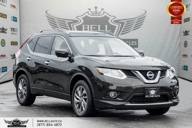 2015 Nissan Rogue SL, AWD, NAVI, 360 CAM, PANO ROOF, LEATHER, PUSH START
