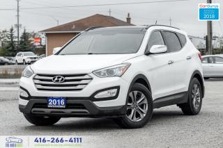Used 2016 Hyundai Santa Fe AWD Luxury Leather Certified Clean Carfax Finance for sale in Bolton, ON
