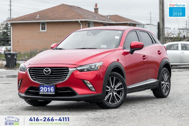 2016 Mazda CX-3 GT AWD NavHUD CleanCarfax 1Owner Certified Finance