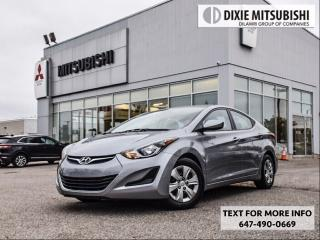 Used 2016 Hyundai Elantra LOW KMS for sale in Mississauga, ON
