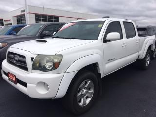 Used 2010 Toyota Tacoma SR5 - LEATHER|CREW CAB|ALLOYS|FOG LIGHTS for sale in Ancaster, ON