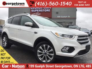 Used 2017 Ford Escape Titanium 4X4|LEATHER|ROOF|NAVI|BU CAM|BLU TOOTH for sale in Georgetown, ON