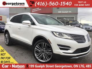 Used 2016 Lincoln MKC Reserve AWD|LEATHER|ROOF|NAVI|BU CAM|BLU TOOTH for sale in Georgetown, ON