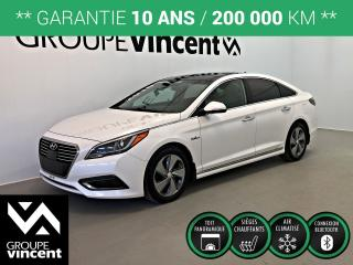 Used 2016 Hyundai Sonata HYBRID ULTIMATE GPS CUIR TOIT** GARANTIE 10 ANS ** Économe en carburant et confortable! for sale in Shawinigan, QC