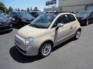 Used 2012 Fiat 500 500c Convertible Lounge Cuir BT for sale in Laval, QC