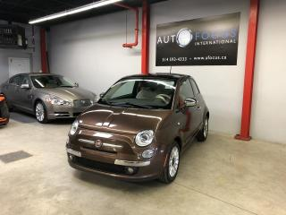 Used 2012 Fiat 500 Lounge AUTO,CUIR,TOIT OUVRANT,MAGS for sale in Montréal, QC