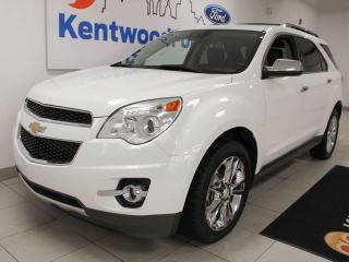 Used 2013 Chevrolet Equinox LTZ AWD with a sunroof, heated power leather seats and a power liftgate for sale in Edmonton, AB
