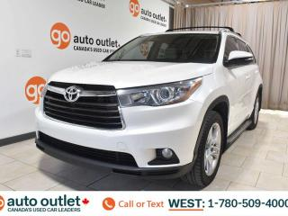 Used 2014 Toyota Highlander Limited, 3.5L V6, Awd, Third row 7 passenger seating, Heated/Cooled leather seats, Navigation, Backup camera, Sunroof/Moonroof, Bluetooth for sale in Edmonton, AB