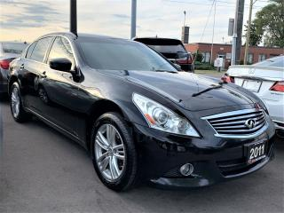 Used 2011 Infiniti G25X AWD.Luxury.Back Up Camera.Leather.Heated Seats for sale in Kitchener, ON