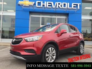 Used 2017 Buick Encore AWD, 0% D'INTERET for sale in Ste-Marie, QC