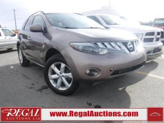 Used 2010 Nissan Murano SL 4D Utility AWD for sale in Calgary, AB