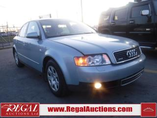 Used 2003 Audi A4 4D Sedan Qtro 1.8T for sale in Calgary, AB