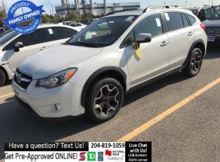 Used 2015 Subaru XV Crosstrek Limited-Tech Pkg leather SUNROOF navigation HTD ST for sale in Winnipeg, MB