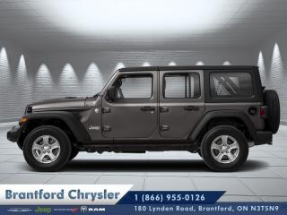 Used 2020 Jeep Wrangler Unlimited Sahara  - Navigation for sale in Brantford, ON