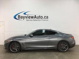 Used 2017 Infiniti Q60 3.0t Red Sport 400 - 400 HP! AWD! LOADED! for sale in Belleville, ON