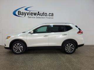 Used 2015 Nissan Rogue SL - HTD LTHR! AWD! PANOROOF! NAV! FULL PWR GROUP! ALLOYS! for sale in Belleville, ON