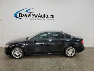 Used 2016 Audi A4 2.0T Komfort plus - QUATTRO! HTD LEATHER! SUNROOF! for sale in Belleville, ON