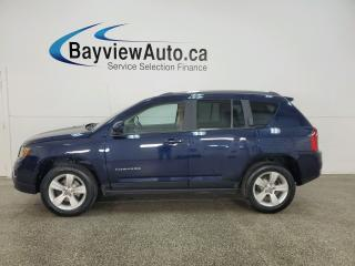 Used 2016 Jeep Compass Sport/North - 4X4! HTD LEATHER! SUNROOF! BLUETOOTH! + MORE! for sale in Belleville, ON