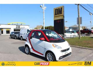 Used 2016 Smart fortwo PASSION  TOIT VITRÉ  SIÈGES CHAUFFANTS for sale in Salaberry-de-Valleyfield, QC