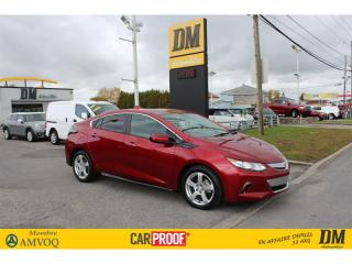 Used 2018 Chevrolet Volt LT HATCHBACK  CAMERA   APPLE/ANDROID   DÉMARREUR for sale in Salaberry-de-Valleyfield, QC
