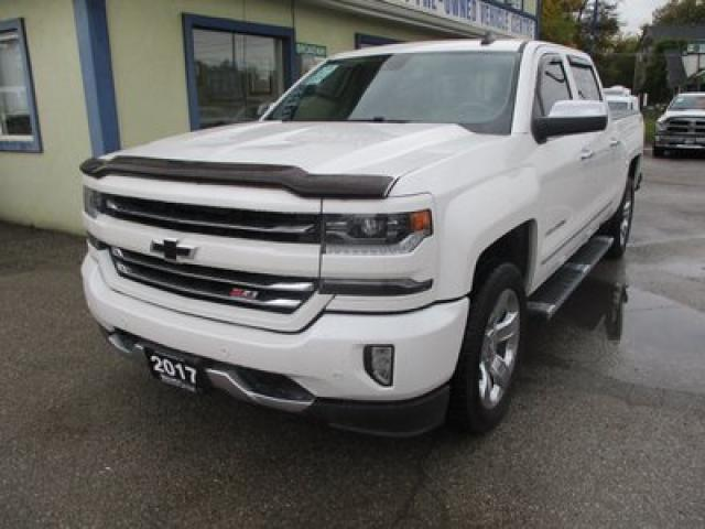 2017 Chevrolet Silverado 1500 LOADED LTZ EDITION 5 PASSENGER 5.3L - V8.. 4X4.. CREW.. SHORTY.. NAVIGATION.. LEATHER.. HEATED/AC SEATS.. SUNROOF.. BACK-UP CAMERA.. BOSE AUDIO..