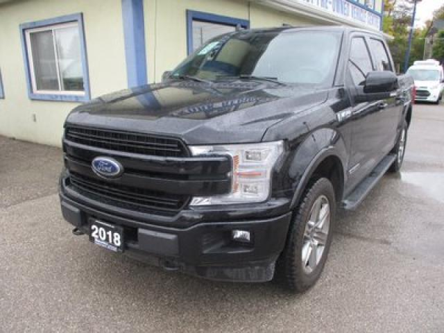 2018 Ford F-150 LOADED LARIAT EDITION 5 PASSENGER 3.0L - DIESEL.. 4X4.. CREW.. SHORTY.. NAVIGATION.. LEATHER.. HEATED/AC SEATS.. SUNROOF.. BACK-UP CAMERA..