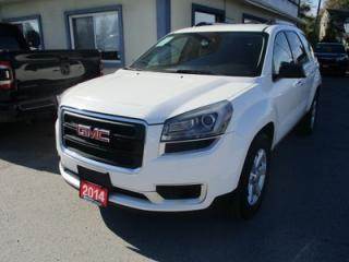Used 2014 GMC Acadia ALL-WHEEL DRIVE SLE-1 EDIITION 8 PASSENGER 3.6L - V6.. BENCH & THIRD ROW.. BACK-UP CAMERA.. CD/AUX INPUT.. KEYLESS ENTRY.. for sale in Bradford, ON