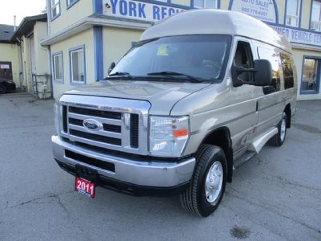 2011 Ford Econoline HANDICAP ACCESSIBLE E-250 SERIES 5 PASSENGER 5.4L - V8.. SPARROW HAWK & B-D INDEPENDENCE UPGRADES.. SYNC TECHNOLOGY.. BACK-UP CAMERA.. EXT-CARGO..