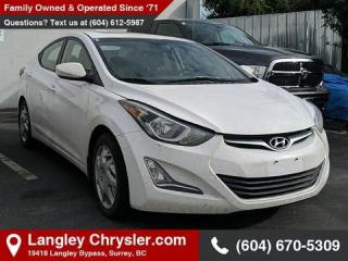Used 2015 Hyundai Elantra GLS - Sunroof -  Bluetooth for sale in Surrey, BC