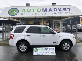 Used 2008 Ford Escape XLT 4WD V6 NEW TRANSMISSION! FREE BCAA! FREE WRNTY! for sale in Langley, BC