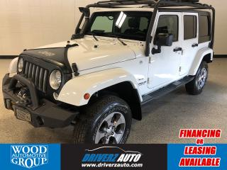 Used 2016 Jeep Wrangler Unlimited Sahara Lots of Additions, Including a Winch and Aggressive Bumpers for sale in Calgary, AB