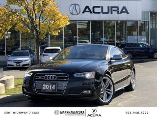 Used 2014 Audi S5 3.0 7sp S tronic Technik Cpe Navi, B&O Audio, Park Sensors for sale in Markham, ON