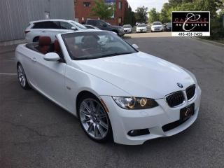 Used 2009 BMW 3 Series 335i CONVERTIBLE M-PKG WHT/RED LEATHER WARRANTY for sale in Concord, ON