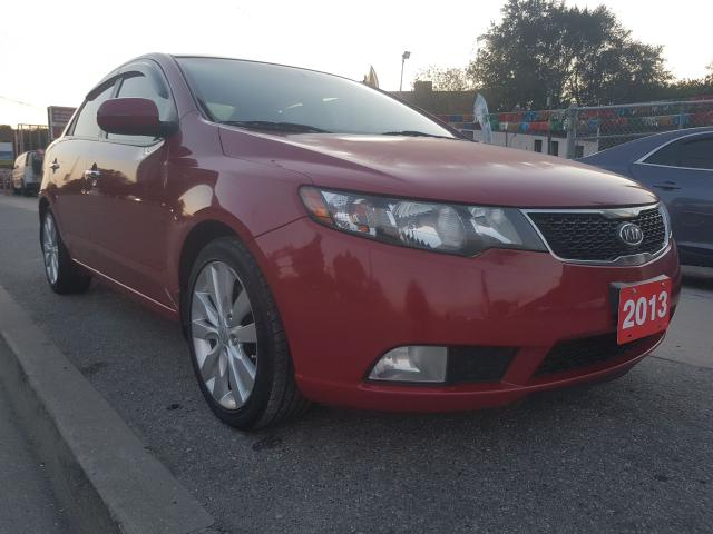 2013 Kia Forte SX-EXTRA CLEAN-LEATHER-SUNROOF-BLUETOOTH-AUX-ALLOY