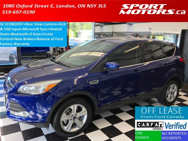 2015 Ford Escape SE+Camera+Bluetooth+NewBrakes+Tinted+Accident Free