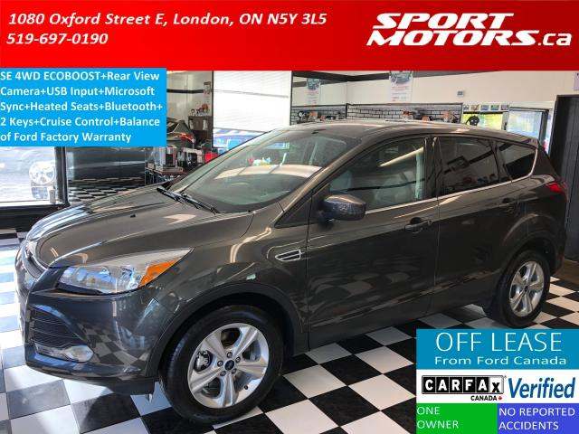 2015 Ford Escape SE 4WD+Camera+Bluetooth+HTD Seats+Accident Free