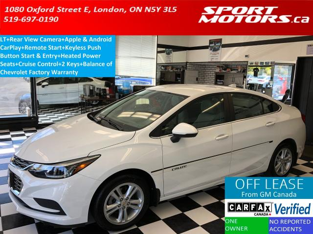 2016 Chevrolet Cruze LT+Apple & Android Play+HTD Seats+Camera+RMT Start