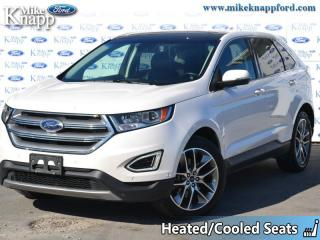 Used 2017 Ford Edge Titanium  - Leather Seats -  Bluetooth for sale in Welland, ON