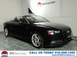 Used 2015 Audi A5 Technik Cabriolet AWD S-Line Nav B&O Cam Certified for sale in Toronto, ON