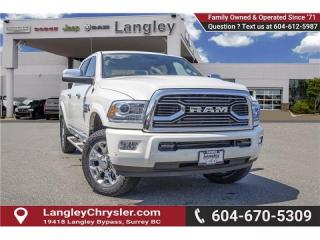 Used 2018 RAM 3500 Longhorn - Navigation -  Leather Seats for sale in Surrey, BC