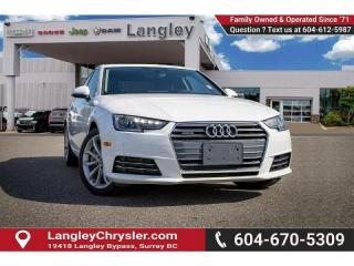 Used 2017 Audi A4 2.0T Progressiv *BACKUP CAMERA* *LEATHER* *NAVI* *MEMORY SEATING* for sale in Surrey, BC