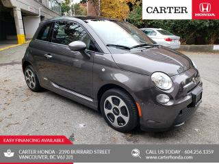 Used 2016 Fiat 500 E ELECTRIC + FAST CHARGE + SUNROOF! for sale in Vancouver, BC