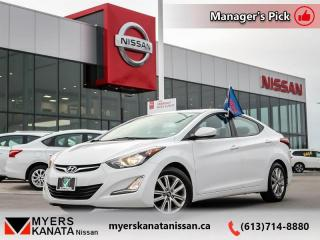 Used 2016 Hyundai Elantra Sport Appearance  - Trade-in - $98 B/W for sale in Kanata, ON