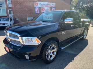 Used 2014 RAM 1500 Limited/ECODIESEL/4X4/CREW CAB/NO ACCIDENT/SAFETY for sale in Cambridge, ON