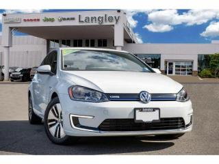 Used 2016 Volkswagen Golf e-Golf ELECTRIC, RANGE OF 170 KM, BACK-UP CAMERA, BLUETOOTH, HEATED MIRRORS AND SEATS! for sale in Surrey, BC