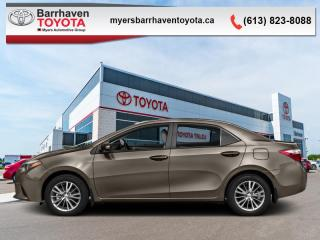 Used 2016 Toyota Corolla CE  - Bluetooth -  Power Windows for sale in Ottawa, ON