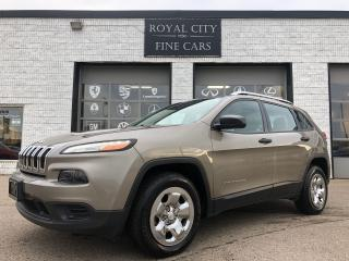 Used 2016 Jeep Cherokee Sport 4x4 Heated Steering Heated Seats Reverse Cam for sale in Guelph, ON