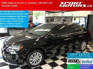 Used 2016 Nissan Sentra SV+Blind Spot Monitor+GPS+Camera+Bluetooth+Sunroof for sale in London, ON